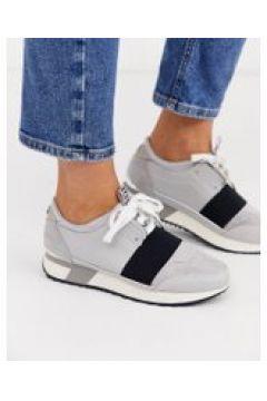 River Island - Sneakers grigio pietra con cinturino nero(112608515)