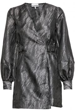 Jacquard Kurzes Kleid Schwarz GANNI(98321421)