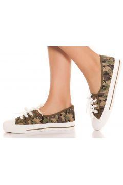 Slip-On Sneaker im Army-Look mit Schnürung(112303903)