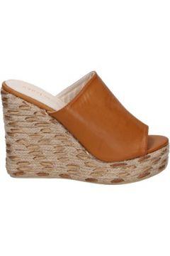 Espadrilles Sara Lopez sandales marron cuir synthétique BS145(115443096)