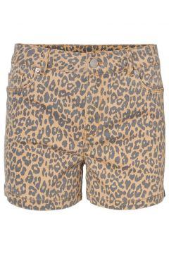 VERO MODA Leopardmönstrade Shorts Kvinna Gul(112326389)