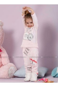 Powder - Crew neck - Multi - Cotton - Kids Pijamas - Siyah inci(100975065)