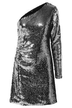 ONLY One-shoulder Pailletten Jurk Dames Grijs(97321739)