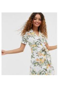 Miss Selfridge Petite - Utility-Kleid mit Tropenmuster - Mehrfarbig(93619231)