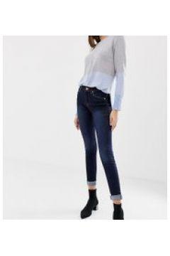 Oasis - Jeans skinny a vita medio alta lavaggio scuro-Blu(112790604)