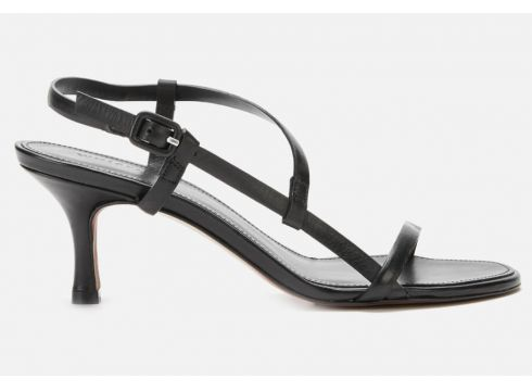 Whistles Women\'s Milana Asymmetric Heeled Sandals - Black - UK 3(90306578)