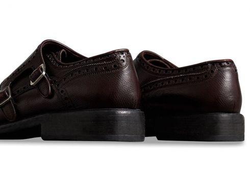 Burberry chaussures à boucles à détails façon richelieu - Rouge(76607200)