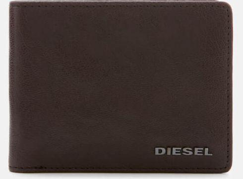 Diesel Men\'s Neela Leather Wallet - Brown(68699423)