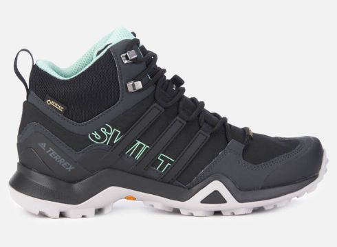 adidas Women\'s Terrex Swift R2 Mid Hiking Boots - Black - UK 4 - Schwarz(67444802)