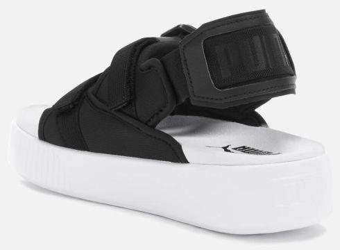 Puma Women\'s Platform Slide Ylm 19 Sandals - Puma Black/Puma White - UK 3 - Schwarz(84128347)