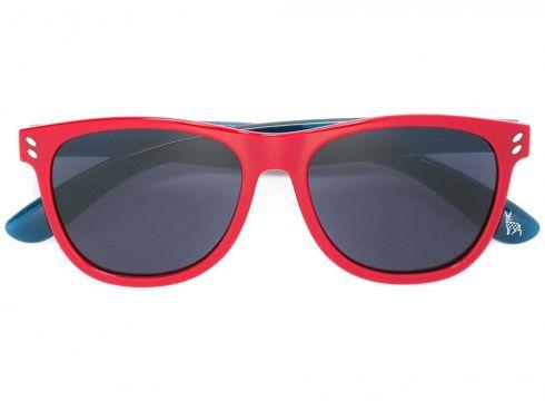 Stella Mccartney Kids lunettes de soleil à monture wayfarer bicolore - Rouge(65478071)