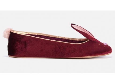 Ted Baker Women\'s Bhunni Velvet Slippers - Burgundy - UK 3 - Burgunderrot(62309456)