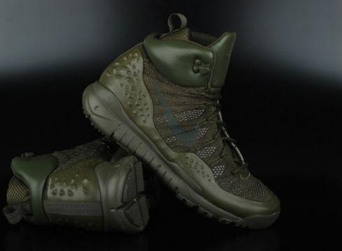 Nike Lupinek Flyknit Cargo Khaki Sequoia High Top Sneaker(77151498)