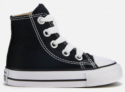 Converse Toddlers\' Chuck Taylor All Star Hi-Top Trainers - Black - UK 2 Toddler - Schwarz(50500913)