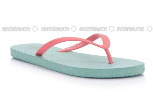 Turquoise - Slippers - DeFacto(110334482)
