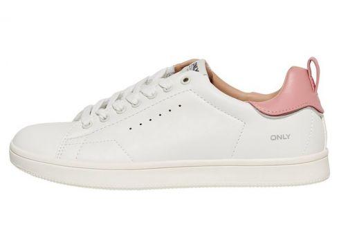 ONLY Effen Gekleurde Sneakers Dames White(79787651)