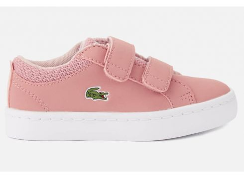 Lacoste Toddler\'s Straightset 318 1 Velcro Trainers - Pink/Natural - UK 3 Toddler - Rosa(53892400)