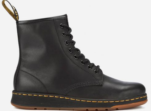 Dr. Martens Newton Lite 8-Eye Lace Up Boots - Black - UK 11 - Schwarz(50503489)