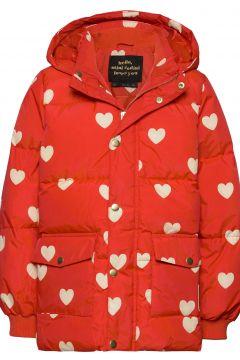 Hearts Pico Puffer Jacket Gefütterte Jacke Rot MINI RODINI(119481822)