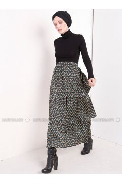 Green - Multi - Unlined - Skirt - MisCats(110313814)