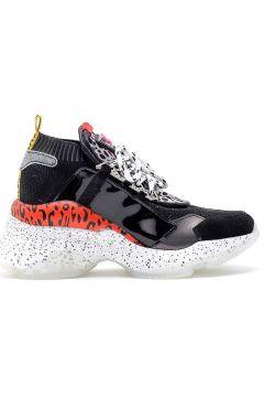 Derimod Hakiki Deri Siyah Kadın Yüksek Tabanlı Sneaker(110961030)