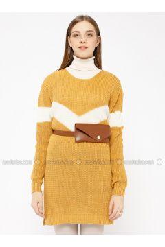 Mustard - Crew neck - Acrylic -- Tunic - Meliana(110331030)