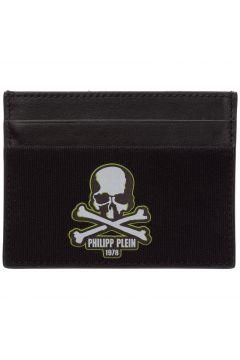 Men's genuine leather credit card case holder wallet skull(118181477)