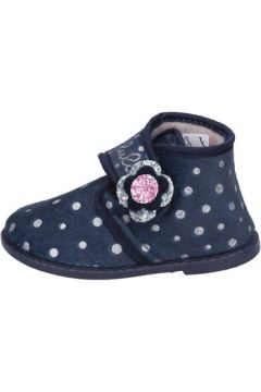 Chaussons enfant Lulu fille chaussons bleu textile BS45(115443010)