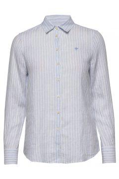 Kirsten Linen Stripe Shirt Langärmliges Hemd Blau MORRIS LADY(116919965)
