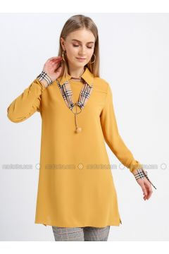 Yellow - Point Collar - Tunic - REPP(110339139)
