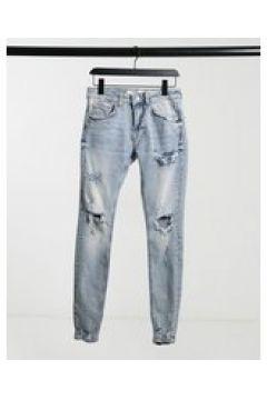 Bershka - Jeans super skinny con lavaggio acido blu(124790575)