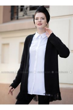 Black - Acrylic -- Jacket - Selma Sarı Design(110320300)