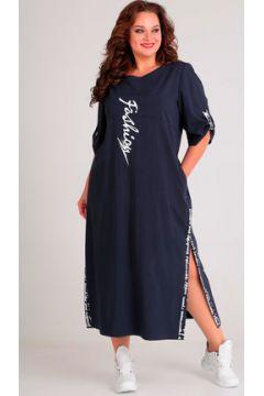 Платье Andrea Style 00183 синий(117356059)
