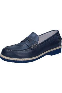 Chaussures Evoluzion mocassins bleu cuir BZ404(115399085)