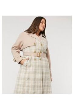 Fashion Union Plus - Trench a quadri-Multicolore(122557688)