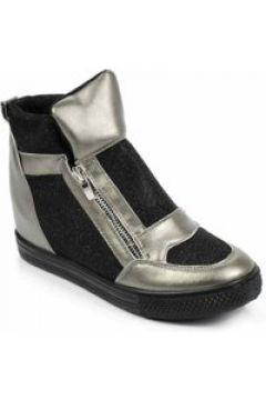 Trampki sneakersy na koturnie Szare(112082832)