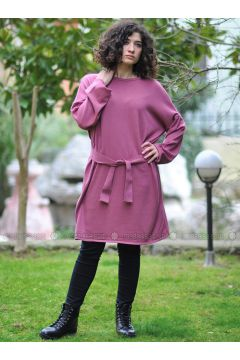 Pink - Crew neck - Knitwear - Minimal Moda(110331275)