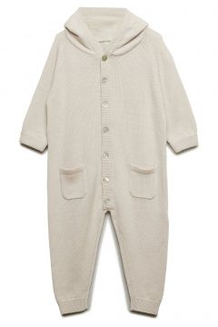 Baby Suit Langärmliger Bodysuit Creme FUB(94809436)