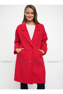 Red - Coat - DeFacto(110325552)