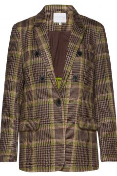 Suit Jacket In Checked Scuba Blazer Jackett Braun COSTER COPENHAGEN(114151786)