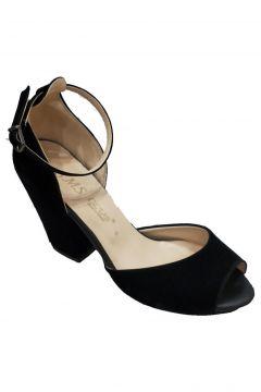 SMS Trend Fashion Kadın Siyah Topuklu Sandalet 42112(117830183)