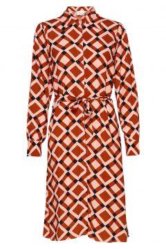 Grama Dress Kleid Knielang Orange SECOND FEMALE(114163792)