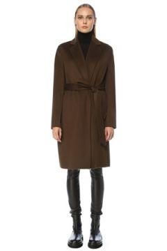Joseph Kadın Cenda Haki Beli Kuşaklı Yün Palto 42 FR(123342155)