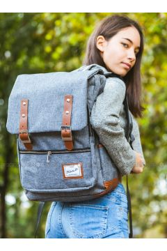 Gray - Backpacks - Fudela(110321020)