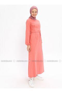 Dusty Rose - Crew neck - Unlined - Cotton - Dresses - Beha Tesettür(110328325)