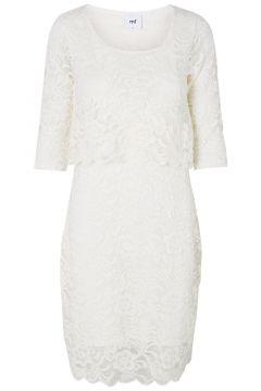 MAMA.LICIOUS Lace Nursing Dress Women White(107363361)