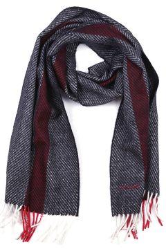 Men's wool scarf multi bone jacquard(118073771)