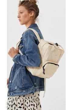 Stradivarius Mini-sac à dos en nylon FEMME Blanc 102(114632211)