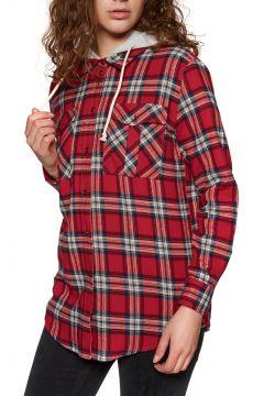 SWELL Hooded Damen Hemd - Red Check(100260434)