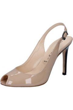 Sandales Capitini sandales beige cuir verni noir BZ493(115399361)